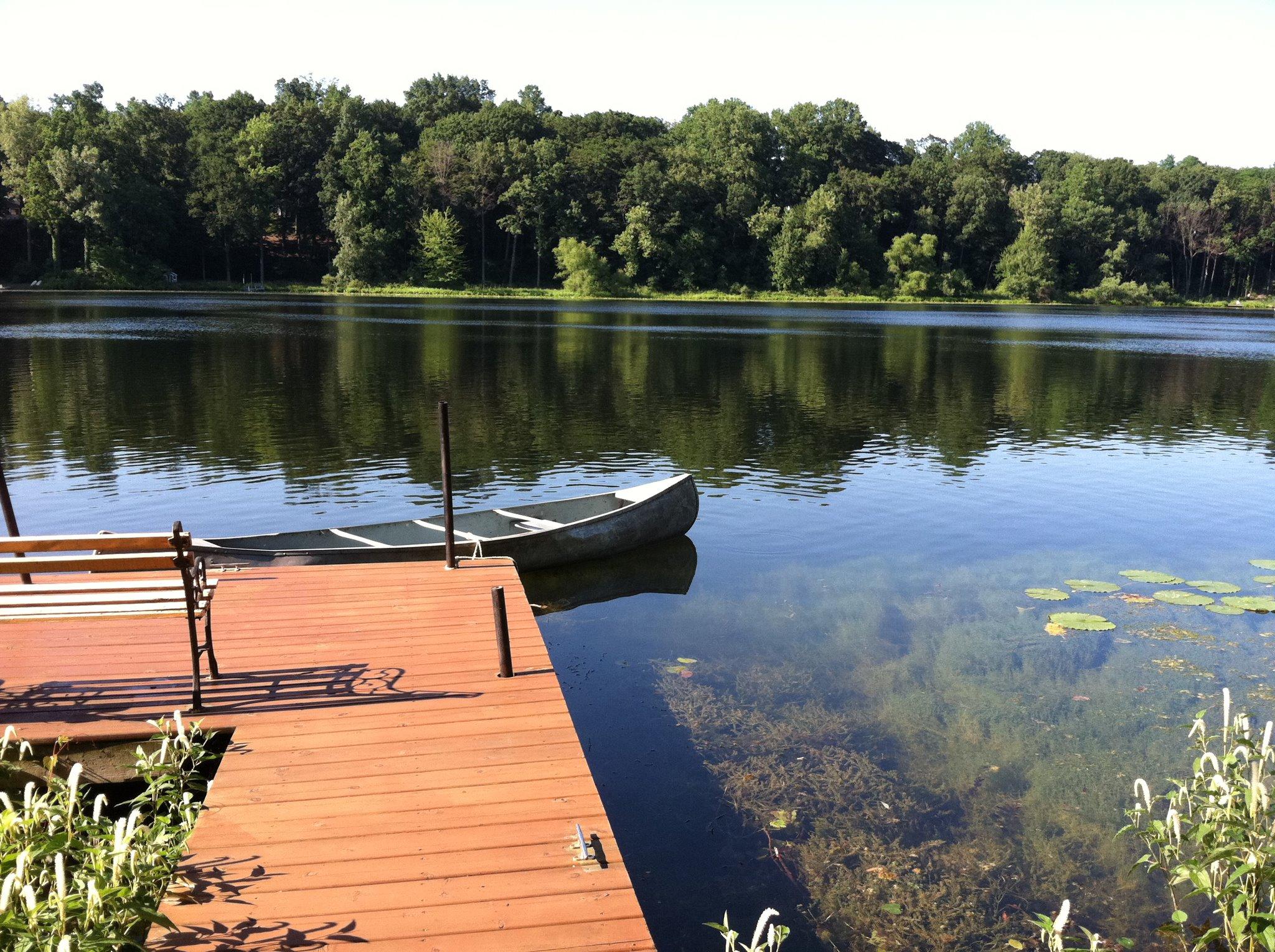 Dock,LakeandCanoe